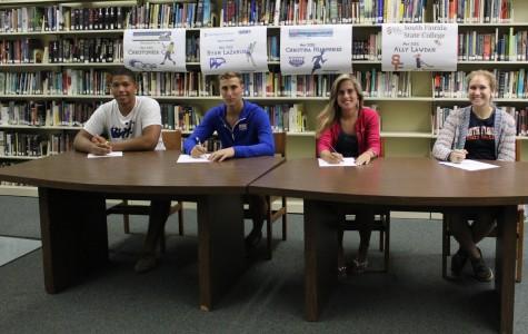 Spring athletes final signing