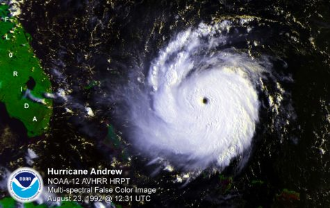A projection of Hurricane Andrew on August 23, 1992, published by the National Oceanic & Atmospheric Administration