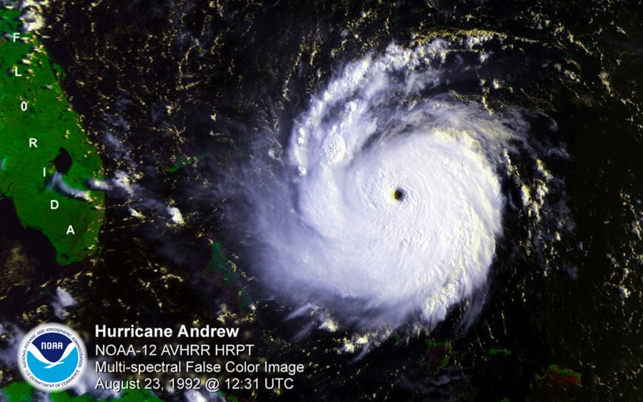 A+projection+of+Hurricane+Andrew+on+August+23%2C+1992%2C+published+by+the+National+Oceanic+%26+Atmospheric+Administration