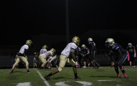 Wildcats line up against Cypress during the Oct. 6 match-up.