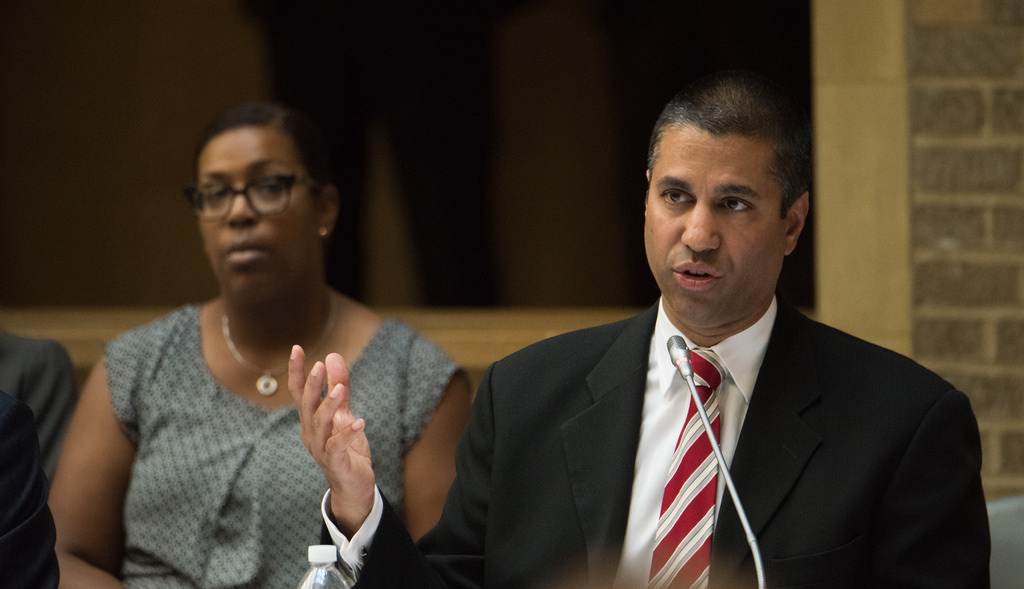 Ajit Pai, Chair of the Federal Communications Commission (FCC), who repealed Net Neutrality rules in a 3-2 vote on Dec. 14.