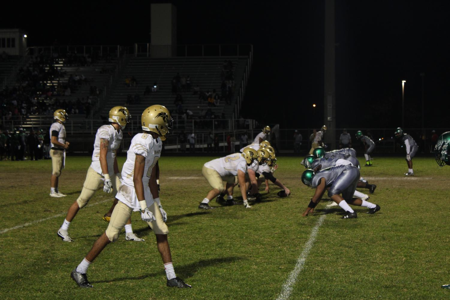 Wildcats drive down the field during the Atlantic playoff game on Nov. 24.