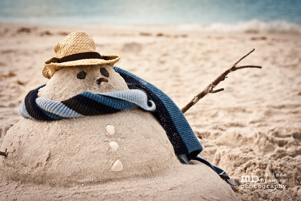 South Floridians in winter are more likely found at the beach than around the fire.