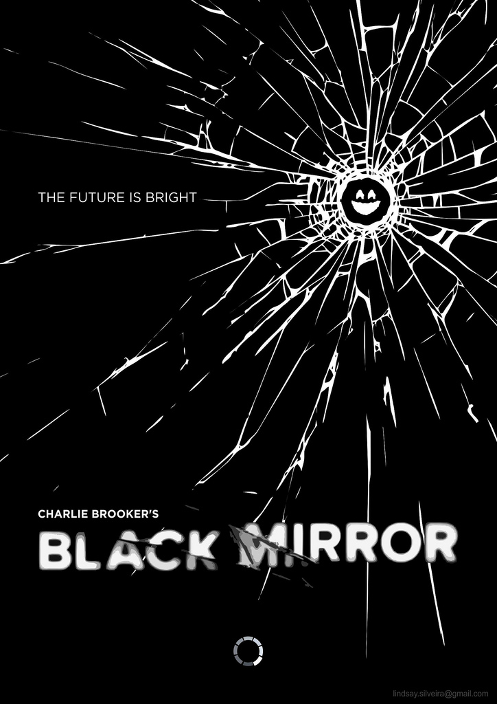 "The title sequence depicts a computer ""waking up"" as glass shatters, an allusion to mistakes made with technology, and then a black screen, referencing the title of ""Black Mirror."""