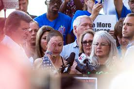 Majory Stoneman Douglas senio, Emma González delivers a monumental speech to protest gun violence in Ft. Lauderdale on Feb. 17.