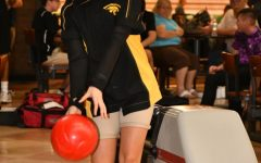 Junior Jada Oleski showcases her bowling skills at Sawgrass Lanes on September 13.