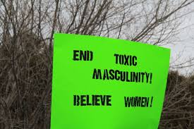 At the 2018 Women's March in Montana, a sign advocates against toxic masculinity.