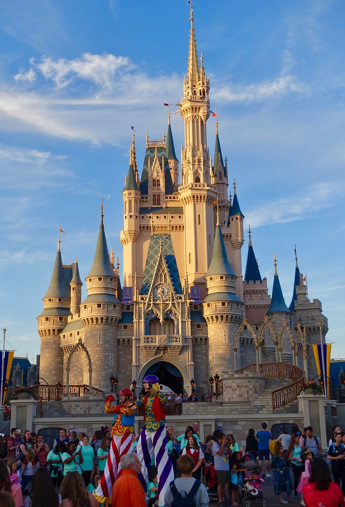 The iconic Cinderella castle in Disney World based on the 1950 original film, is a staple photo op for Instagram gold.