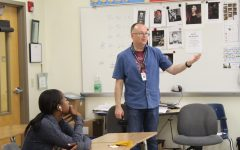 Social studies teacher Karl Linhart holds a class discussion with his AP United States Government students.