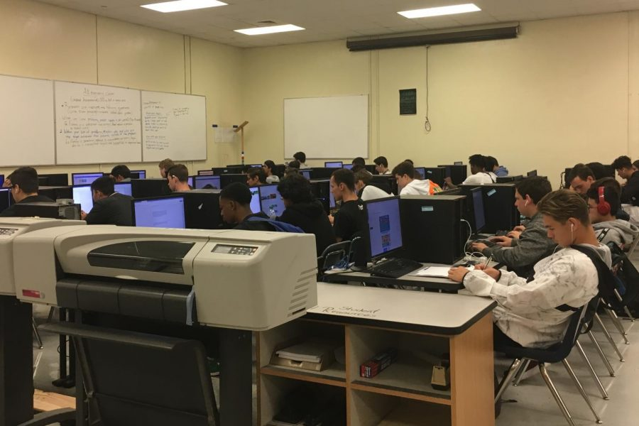The first days of the 2019-2020 in the engineering classroom were spent with no classwork, allowing students to sit idly.