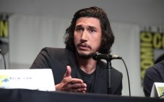 Best Actor nominee Adam Driver answers questions during a Star Wars panel at Comic Con. He is nominated for