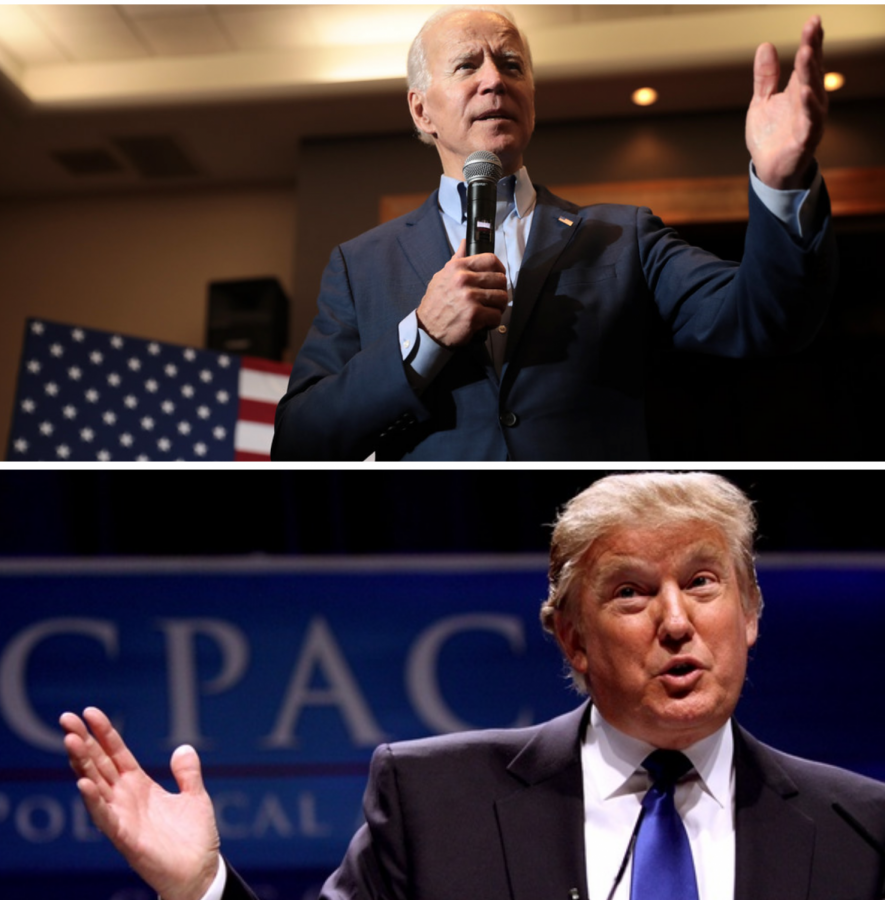 Presidential candidates Donald Trump (R) and Joe Biden (D) present their visions for the country.