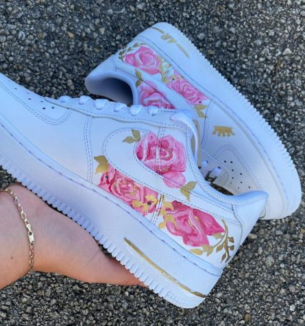 Junior Carolina Ortega creates custom shoes and advertises them on Instagram (@caroscustoms).
