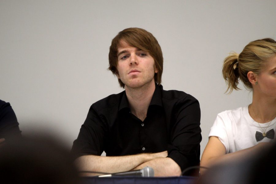 Formerly successful YouTuber Shane Dawson speaks at VidCon 2012 at the Anaheim Convention Center in Anaheim, California. Dawson's career has taken a dive since he old videos resurfaced in which he made highly offensive comments.