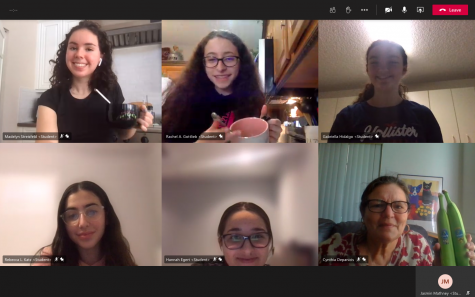 The Food Allergy Club meets on Microsoft Teams and shares allergy-friendly recipes the last Friday of every month with sponsor Cynthia Depanicis.
