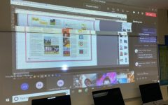 The yearbook staff designs a layout of the book via Teams meeting on Feb. 4. The staff is 100 percent virtual.