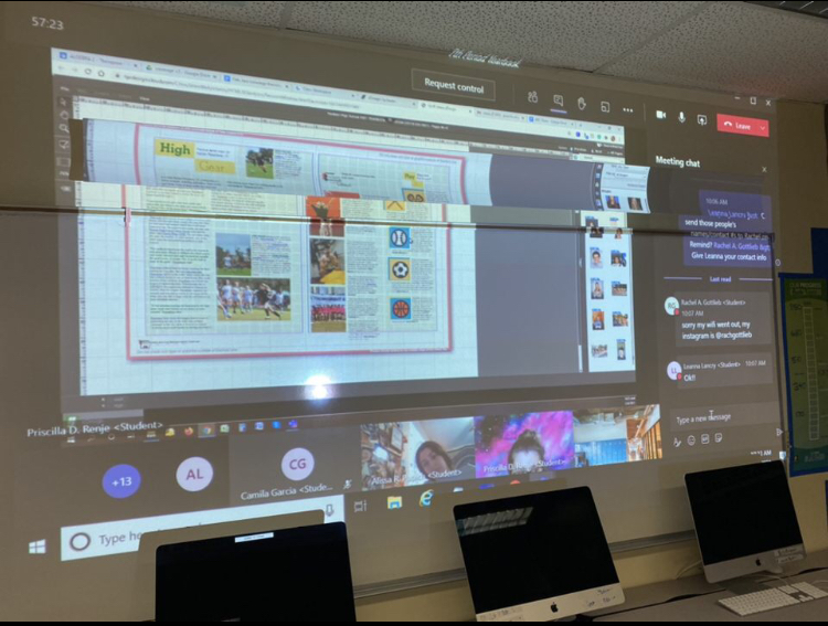 In disconnected year, yearbook staff binds pages together