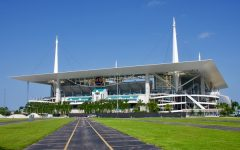 Hard Rock Stadium in Miami Gardens, Home of the Dolphins